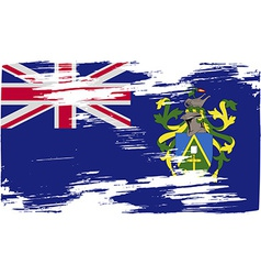 Flag of pitcairn islands with old texture vector