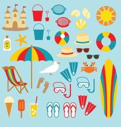 Beach clipart vector