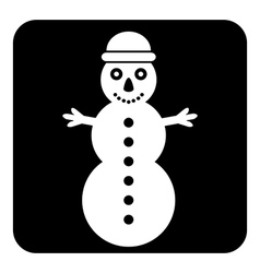 Snowman symbol button vector