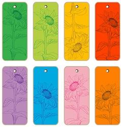 Sun flower price tags vector