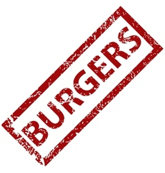 Burgers rubber stamp vector
