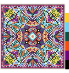Cross stitch ukrainian traditional embroidery vector