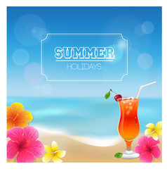 Summer background and vector