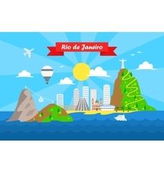 Rio de janeiro colorful background vector