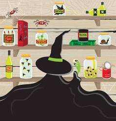 Pantry witch vector