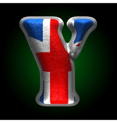 Great britain metal figure y vector