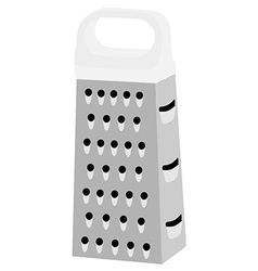 Grater with white handle vector