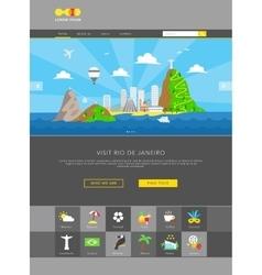 Rio de janeiro web template vector