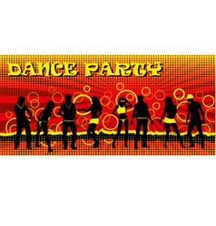 Dance party ticket red vector
