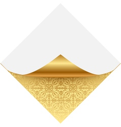 Gold ornate note paper vector