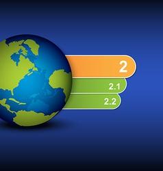 Globe and menu tab design vector
