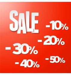Sale percents paper set vector