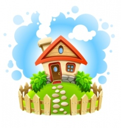 Fairytale house vector