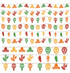 Mexican bunting vector