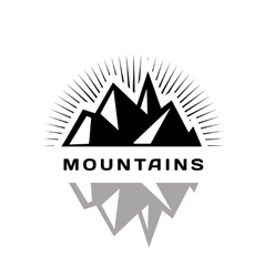 Mountains logo for a firm company or corporation vector