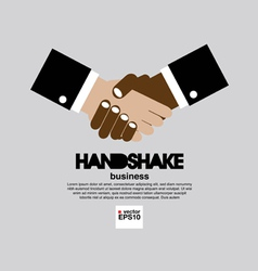 Handshake simply and clean business concept vector