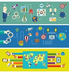 Business start social network communication vector