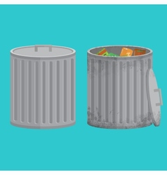 Trash cans two icon xxl vector