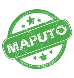 Maputo green stamp vector