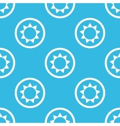 Sun sign blue pattern vector