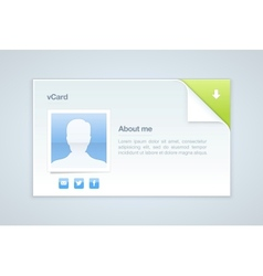 Visit card personal info vector