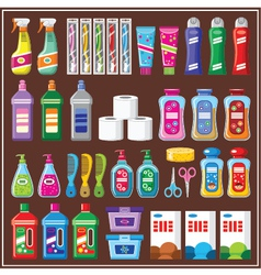 Set of household chemicals vector