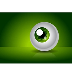 Green eye with gradient vector