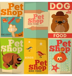 Pet shop posters vector