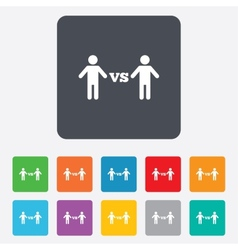 Player vs player sign icon games symbol vector