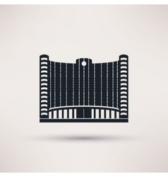 Bank building on flat style concept vector