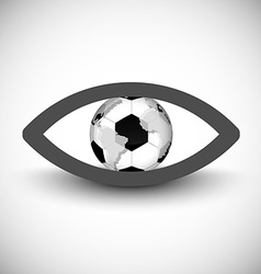 Eyeball icon vector