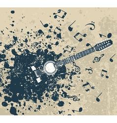 Guitar background vector