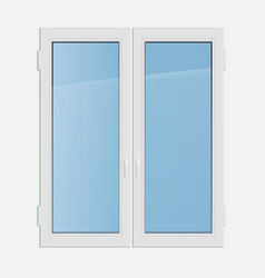 Double casement plastic window vector