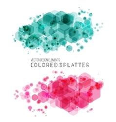Abstract background with color splash vector