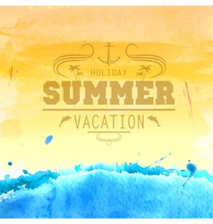 Summer watercolor background vector