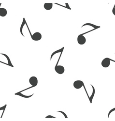Eighth note pattern vector
