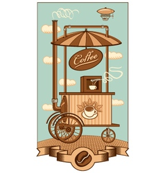 Mobile coffee vector