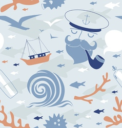 Seamless print with seaman vector