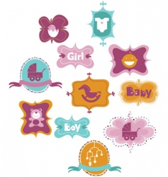 Baby tags vector