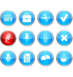 Office round icons vector
