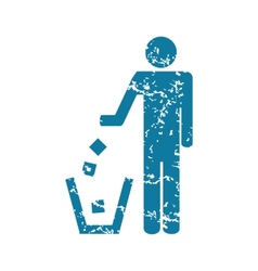 Recycling grunge icon vector