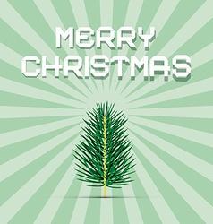 Retro green christmas card vector