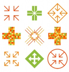 Arrow cross signs vector
