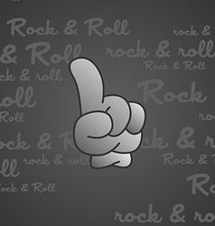 Rock and roll theme hand gesture vector