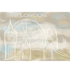 London abstract cityscape vector
