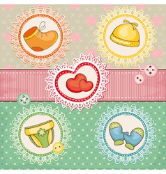 Abstract cute lovely baby card vector