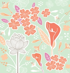 Flower pattern set 1b vector