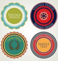 Vintage stickers vector