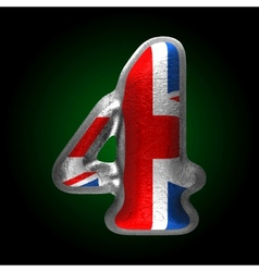 Great britain metal figure 4 vector