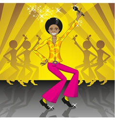 Dancing and singing boy vector
